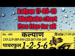 Kalyan 17 09 19 Fix While Baba Chart Free Free