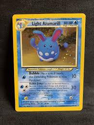 Light Azumarill Holo Light Azumarill 13 105 Holo Rare Vintage Wotc