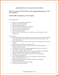 Resume Templates For Medical Office Receptionist Refrence Medical ...