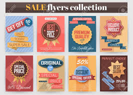 sale flyers set of colorful sale flyers best creative design for sale and