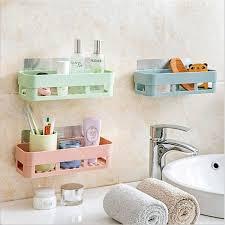 bathroom wall storage shower shelves