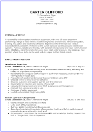 Free General Warehouse Worker Resume Templates At