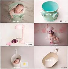 2019 dvotinst newborn photography props iron creative posing bucket bathtub for baby photo shooting accessories infant studio props from deve