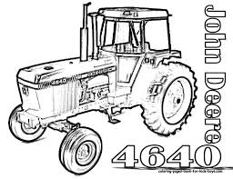 New Coloring Page Deer Tractors Colouring