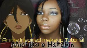 anime inspired makeup tutorial michiko e hatchin black cosplay