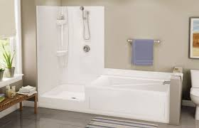 built in bathtub shower combination rectangular acrylic exhibit tsc 102