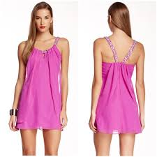 Adrianna Papell Pink Party Prom Beaded Juniors 5 6 Short Night Out Dress Size 2 Xs 59 Off Retail