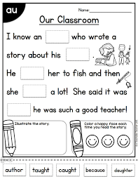 © contributed by leanne guenther. Aw Au Al Worksheet Printable Worksheets And Activities For Teachers Parents Tutors And Homeschool Families