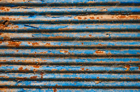 the rusty corrugated metal texture background stock photo