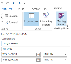 Microsoft Meeting Notes Template Take Notes In A Meeting Onenote