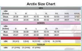 Arctix Size Chart Jpg