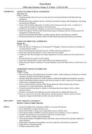 Associate Director Admissions Resume Samples Velvet Jobs
