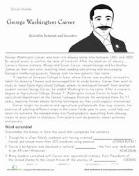george washington carver worksheets worksheets library  17 best ideas about george washington carver george
