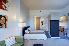 Studio Bedroom. Slingshot_nelson_flemingbldg_104494_studio_entrykitchen