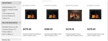 of fireplace doors at