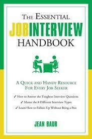 Job Interview Types Essential Job Interview Handbook Jean Baur 9781601632821