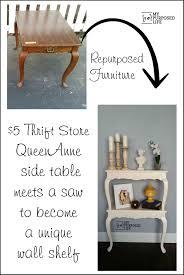 repurposed furniture store. queen anne side tables cut in half repurposed furniture store b