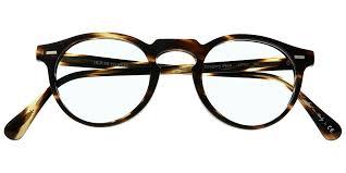 classic rounded plastic eyeglass frame
