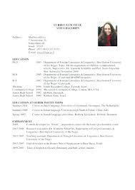 Academic Resume Sample Examples Of Academic Resumes Academic Resume