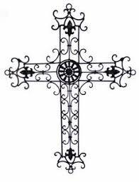 iron wall cross love: wrought iron wall cross i love these