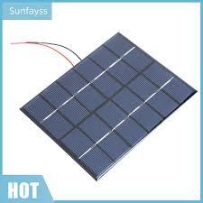 SF Tấm Pin Năng Lượng Mặt Trời Cầm Tay 2w 6v 330ma Bằng Silicon - Pin sạc  dự phòng di động