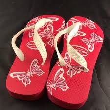 Women S Shoe Size Chart Brazil Red White Havaianas Tops Womens 37 38 Brazilian Nwt