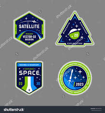 Nasa Mission Patch Design Mission Patch Vector Graphics And Emblems Set Space Nasa
