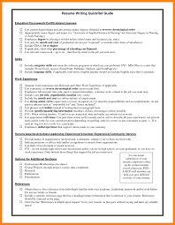 Resume Education Examples Listing Certifications On Resume Certification Samples Education 87
