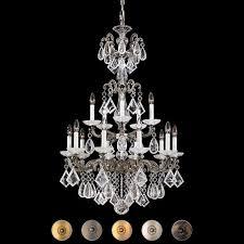 swarovski schonbek chandelier with arms Ø 71 cm 15 luci la scala rock crystal