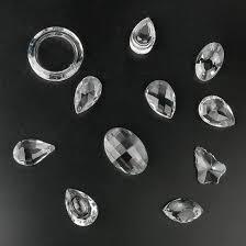 H D 24 Stück Klar Kristall Kronleuchter Lampe Beleuchtung
