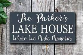 house signs and plaques uk lake decor personalized sign last name custom