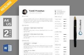 spacious resume cv by officeworld design bundles spacious resume cv example image 1