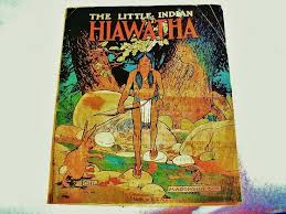 best hiawatha poem ideas teachit languages  1916 hiawatha children s vintage linen book native american images the little n hiawatha