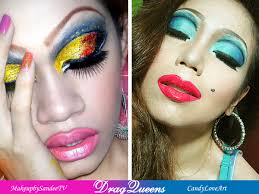candyloveart my drag queen makeup look a makeup collaboration with sandee