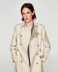 trendy trench coat in sand