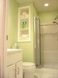 Recessed Shelves Bathroom Bathroom 2017 Outstanding Bright Tiny Bathroom With White