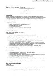 School Administrator Resume Impressive School Administrator
