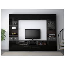 besta tv storage combinationglass doors black brownselsviken