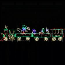 led animated lighted frosty train