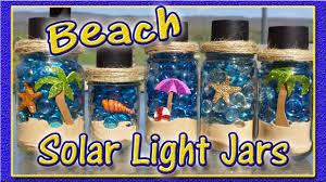 diy solar light jars beach theme