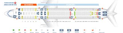 Seat Map Airbus A340 300 Turkish Airlines Best Seats In The
