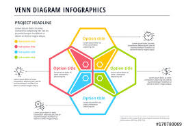 Venn Diagram Color Venn Diagram Infographic With 4 Colors Buy This Stock Template And