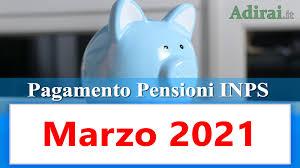 Calendario pagamento pensioni Inps marzo 2021 in anticipo