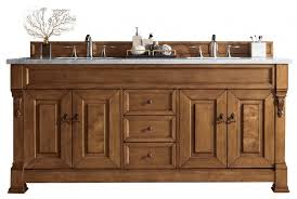 Note that the product is in distress finish, each piece is unique. 72 Inch Oak Double Sink Bathroom Vanity Custom Options