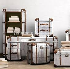 aluminum trunk coffee table trunk chest of table silver industrial aluminium trunk coffee table