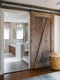 the master bath door is rustic alder imagine the space you would lose if you d put a hinged door on this room the sliding design is a perfect solution