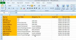 Can You Make An Org Chart In Excel Automatic Creation Of Org Chart Using External Data In Visio
