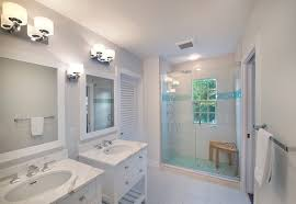 traditional bathroom lighting ideas white free standin. Beautiful Traditional Bathroom Tile Floor Features Shared Bathroom, Shower With Aqua Accent. Freestanding Vanity Glass Block Window Lighting Ideas White Free Standin