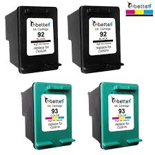 4 packs printer ink cartridges for hp 93 92 hp93 hp92 deskjet 5440 5442 5443