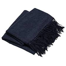 Dark Blue Throw Blanket